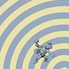 Pokemon - Machamp Circles iPad Case by Aaron Campbell