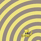 Pokemon - Abra Circles iPad Case by Aaron Campbell