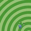 Pokemon - Oddish Circles iPad Case by Aaron Campbell