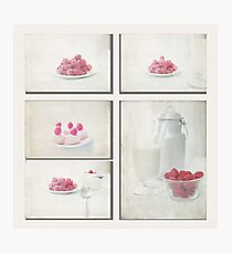 Way & Start Raspberries Collage Photographic Print