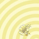 Pokemon - Ninetails Circles iPad Case by Aaron Campbell