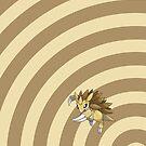 Pokemon - Sandslash Circles iPad Case by Aaron Campbell