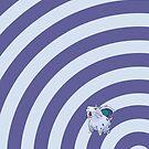 Pokemon - Nidoran F Circles iPad Case by Aaron Campbell