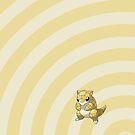 Pokemon - Sandshrew Circles iPad Case by Aaron Campbell