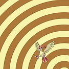 Pokemon - Pidgeotto Circles iPad Case by Aaron Campbell