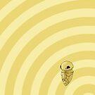 Pokemon - Kakuna Circles iPad Case by Aaron Campbell