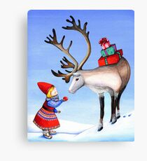 Reindeer Girl Canvas Print