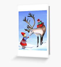 Reindeer Girl Greeting Card