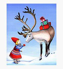 Reindeer Girl Photographic Print