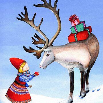 Reindeer Girl by ClearJadeStudio