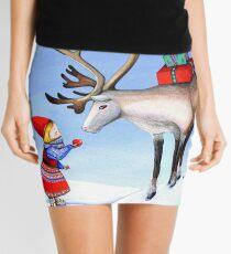 Reindeer Girl Mini Skirt