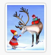 Reindeer Girl Sticker