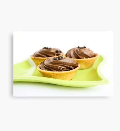 Chocolate Tarts Canvas Print