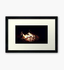 Night Campfire Framed Print