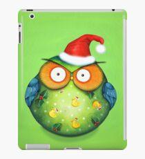 Funny Santa Owl iPad Case/Skin