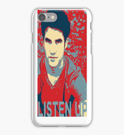 Darren Criss Listen Up Obama Hope Iphone Case iPhone Case/Skin