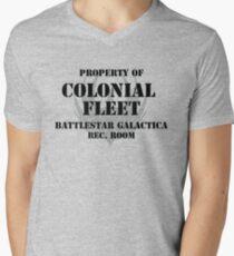 Colonial Fleet Battlestar Galactica Rec. Room Men's V-Neck T-Shirt