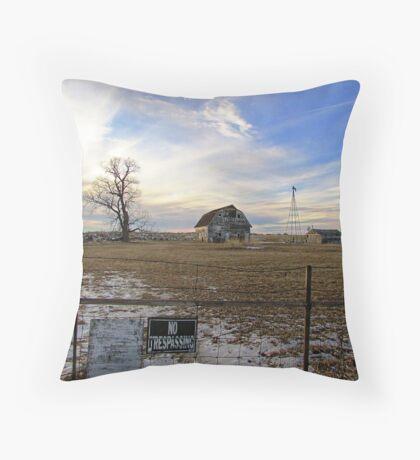 Rural Relics Throw Pillow