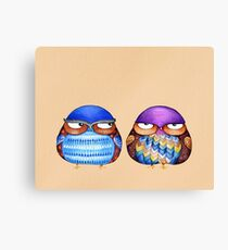 Grumpy Birds Canvas Print