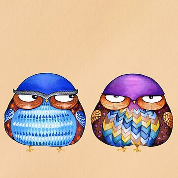 Grumpy Birds by ClearJadeStudio