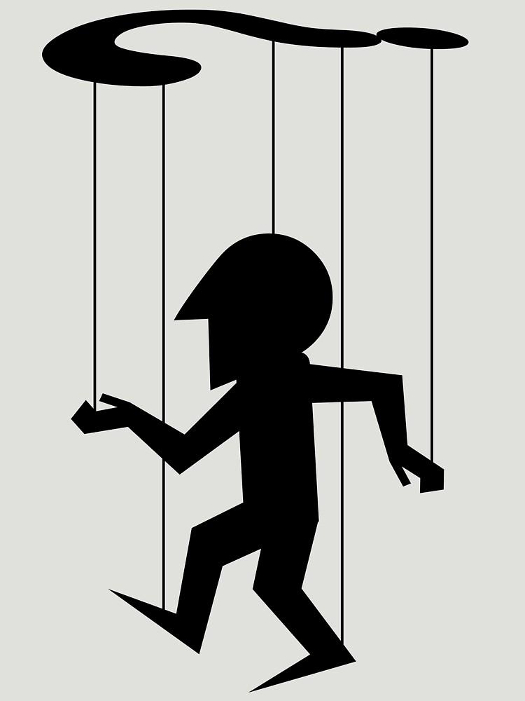 Puppet of Doubt [dark design for light t-shirt] by bridge8