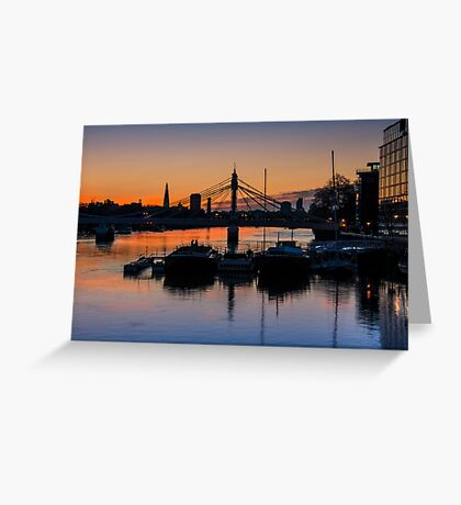 Thames Sunrise: London. Greeting Card