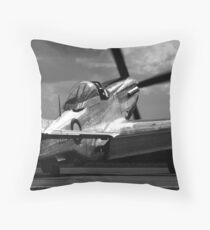 Lady P51D Throw Pillow