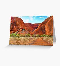 Uluru - Painted Greeting Card