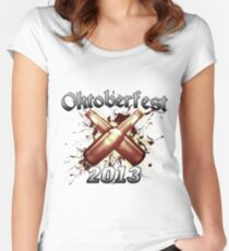 Oktoberfest Beer Bottles 2013 Women's Fitted Scoop T-Shirt