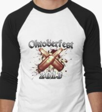 Oktoberfest Beer Bottles 2013 Men's Baseball ¾ T-Shirt
