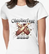 Oktoberfest Beer Bottles 2013 Women's Fitted T-Shirt