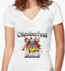 Oktoberfest Coat Of Arms 2013 Women's Fitted V-Neck T-Shirt
