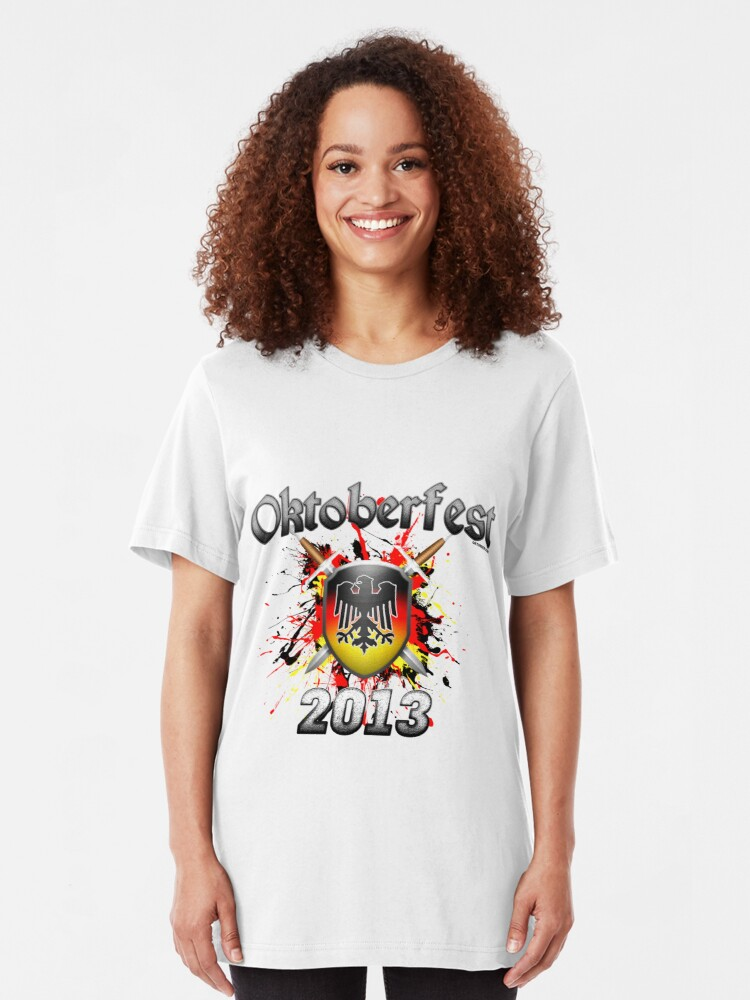 Alternate view of Oktoberfest Coat Of Arms 2013 Slim Fit T-Shirt