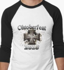 Oktoberfest Iron Cross 2013 Men's Baseball ¾ T-Shirt