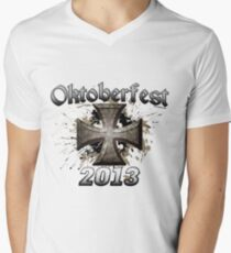 Oktoberfest Iron Cross 2013 Men's V-Neck T-Shirt