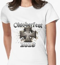 Oktoberfest Iron Cross 2013 Women's Fitted T-Shirt