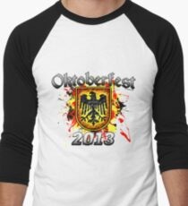 Oktoberfest Eagle Shield 2013 Men's Baseball ¾ T-Shirt
