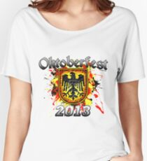 Oktoberfest Eagle Shield 2013 Women's Relaxed Fit T-Shirt