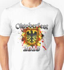 Oktoberfest Eagle Shield 2013 Slim Fit T-Shirt