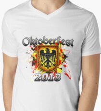 Oktoberfest Eagle Shield 2013 Men's V-Neck T-Shirt