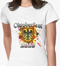 Oktoberfest Eagle Shield 2013 Women's Fitted T-Shirt