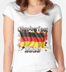 Oktoberfest German Flag 2013 Women's Fitted Scoop T-Shirt