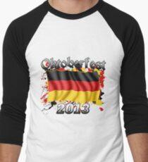 Oktoberfest German Flag 2013 Men's Baseball ¾ T-Shirt