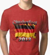 Oktoberfest German Flag 2013 Tri-blend T-Shirt