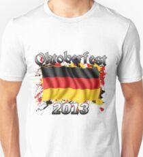 Oktoberfest German Flag 2013 Slim Fit T-Shirt