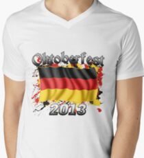 Oktoberfest German Flag 2013 Men's V-Neck T-Shirt