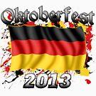 Oktoberfest German Flag 2013 by Oktobeer