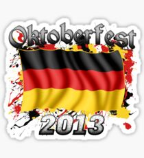 Oktoberfest German Flag 2013 Sticker