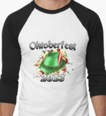 Oktoberfest German Hat 2013 Men's Baseball ¾ T-Shirt