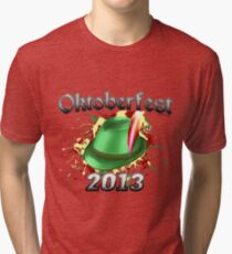 Oktoberfest German Hat 2013 Tri-blend T-Shirt